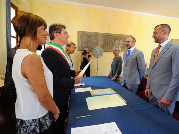 a84abec682ec Celebrata la prima unione civile di Brescia  «Per noi è un sogno ...