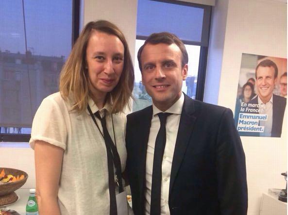 Caterina Avanza con il presidente Macron, di cui ha curato anche la campagna elettorale