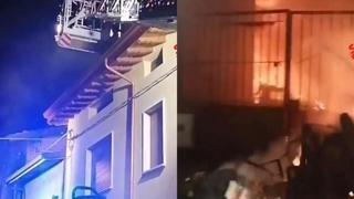 Brescia, incendio a Prevalle: vigile del fuoco ferito nell'esplosione